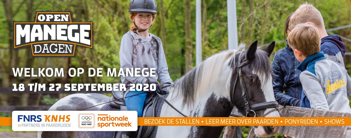 Banner Open Manegedagen 2020